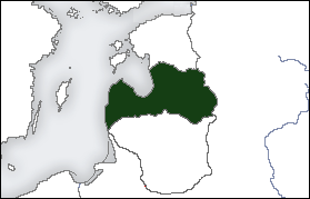 Location of Latvia