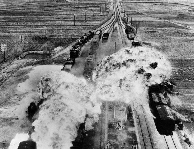 File:Korean War, train attack.jpg