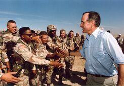 Bush troops