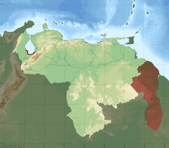 File:Venezuela Topographic South Lake Maracaibo Highlighted.png