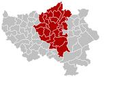 Arrondissement Liège Belgium Map