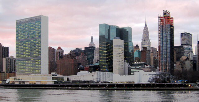 File:United Nations Headquarters in New York City, view from Roosevelt Island.jpg