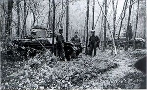 Saar offensive - R35 tanks in Warndt forrest 1938 MGS