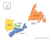 Map of Acadia (Russian America)