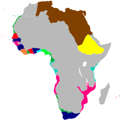 Scramble for Africa Map 1845