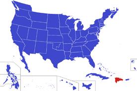 United States map - Dominica (Alternity)