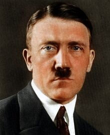 Color adolf hitler portrait