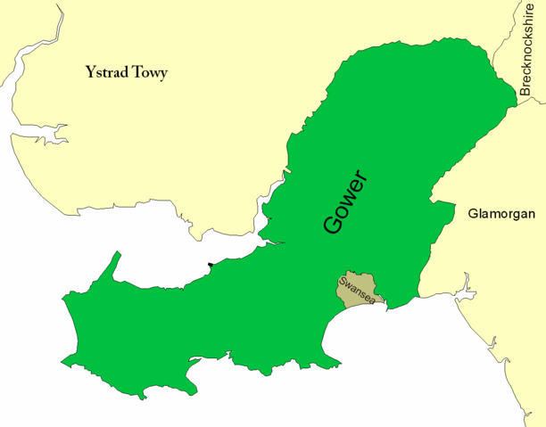 File:Map of the Earldom of Gwyr (Gower).png