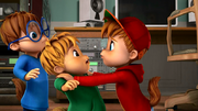The Chipmunks in Who Ghosts There
