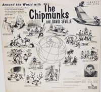 Around The World with The Chipmunks Vinyl Back Cover