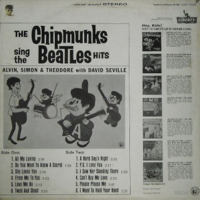The Chipmunks Sing the Beatles Hits Back Cover
