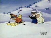 Alvin Learning to Ski