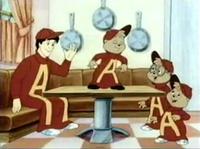 The Chipmunks & Dave Dressed as Alvin