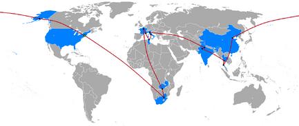 The Amazing Race 1 map