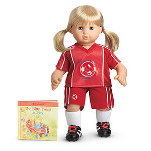 RedSoccerOutfit BittyTwins