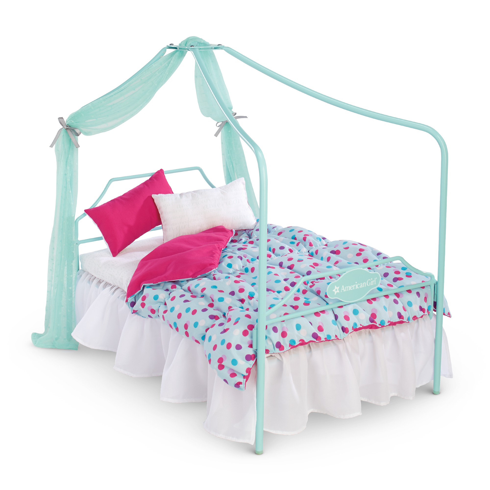 Image result for ag Canopy Bed & Bedding Set