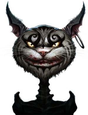 Cheshire Cat Storybook render