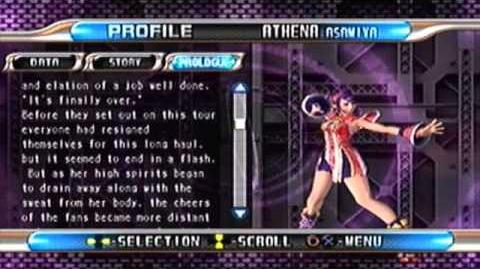 King of Fighters Maximum Impact 2 PS2 Athena Asamiya's Profile