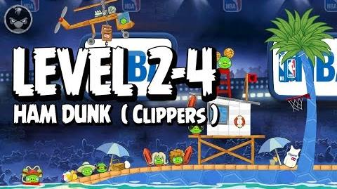 Angry Birds Seasons Ham Dunk 2-4 - Clippers - Walkthrough 3 Star