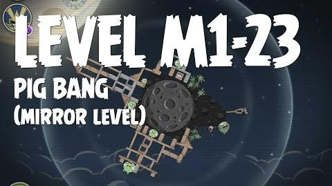 Angry Birds Space Pig Bang Level M1-23 Mirror World Walkthrough 3 Star