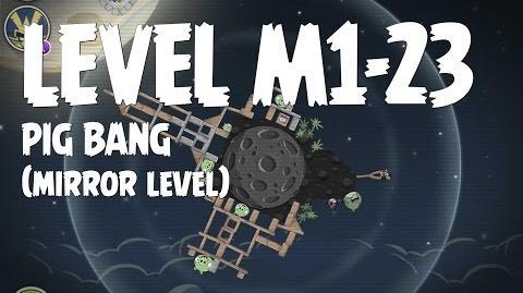 Angry Birds Space Pig Bang Level M1-23 Mirror World Walkthrough 3 Star
