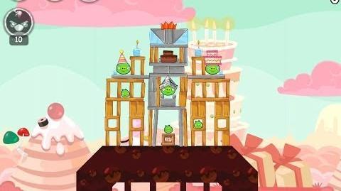 Angry Birds Birdday Party Cake 4 Level 11 Walkthrough 3 Star