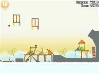 Official Angry Birds Walkthrough Danger Above 8-14