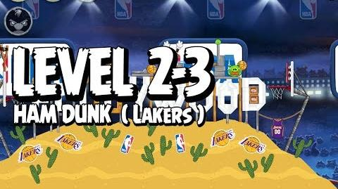 Angry Birds Seasons Ham Dunk 2-3 - Lakers - Walkthrough 3 Star
