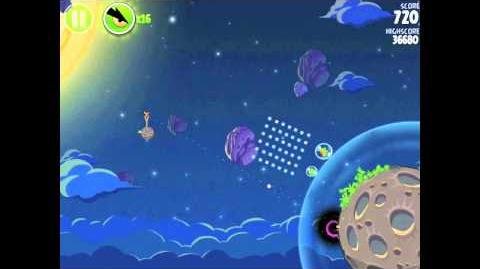 Angry Birds Space E-1 Pig Bang Golden Eggesteroid (Egg) 1 Walkthrough 3 star