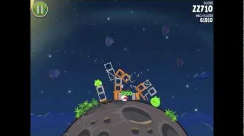Angry Birds Space Pig Bang 1-4 Walkthrough 3-star