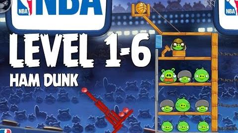 Angry Birds Seasons Ham Dunk 1-6 Walkthrough 3 Star