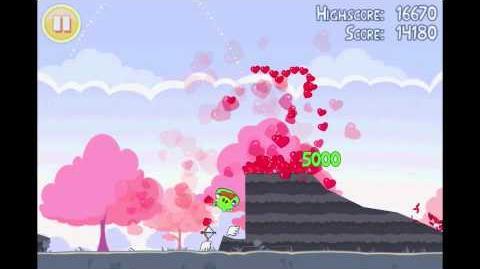 "Angry Birds Seasons Season's Greedings Golden Egg 6 Walkthrough ""Big Heart"""