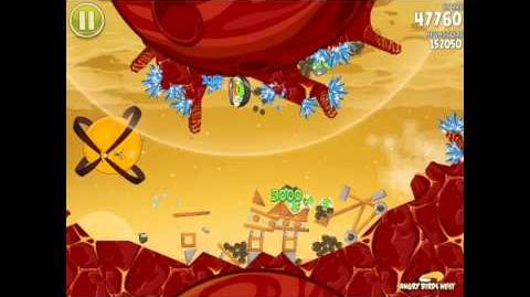 Angry Birds Space Golden Rover 2 Sojourner (E-R2) Eggsteroid Walkthrough