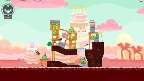 Angry Birds Birdday Party Cake 4 Level 1 Walkthrough 3 Star