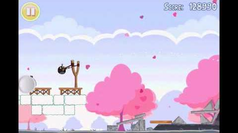 Angry Birds Seasons Hogs & Kisses 3 Star Walkthrough Level 4