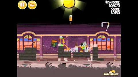 Angry Birds Seasons Haunted Hogs Golden Egg 39 Walkthrough 2013