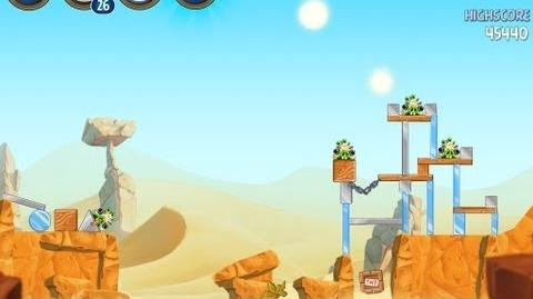 Angry Birds Star Wars 2 Level B2-3 Escape To Tatooine 3 star Walkthrough