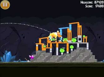 Official Angry Birds Walkthrough Mine and Dine 16-10