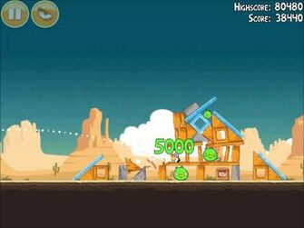 Official Angry Birds Walkthrough Ham 'Em High 14-13