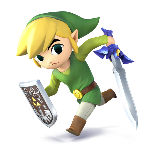 File:SSB4 - Toon Link Artwork.png