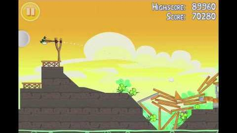 Angry Birds Seasons Go Green, Get Lucky 3 Star Walkthrough Level 14