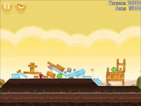 Official Angry Birds Walkthrough Poached Eggs 3-4