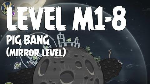 Angry Birds Space Pig Bang Level M1-8 Mirror World Walkthrough 3 Star