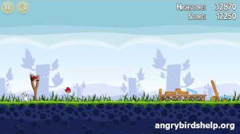 Angry Birds Level 1-1 - 3 Star Walkthrough