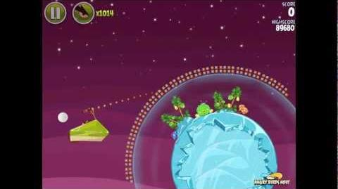 Angry Birds Space Utopia 4-13 Walkthrough 3-Star