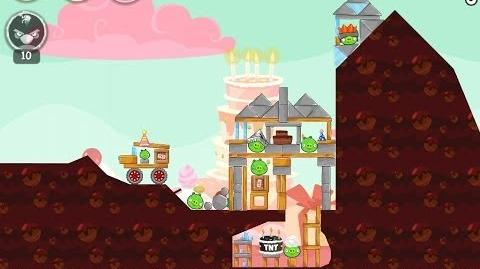 Angry Birds Birdday Party Cake 4 Level 14 Walkthrough 3 Star