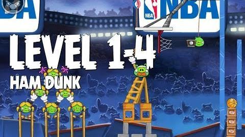 Angry Birds Seasons Ham Dunk 1-4 Walkthrough 3 Star