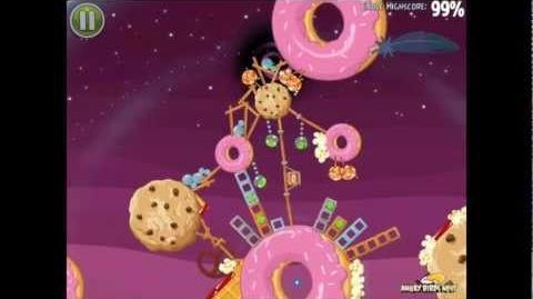 Angry Birds Space Utopia Bonus Level F-4 Space Eagle Walkthrough
