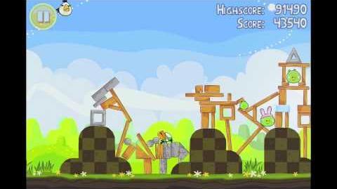 Angry Birds Seasons Easter Eggs Level 9 Walkthrough 3 Star
