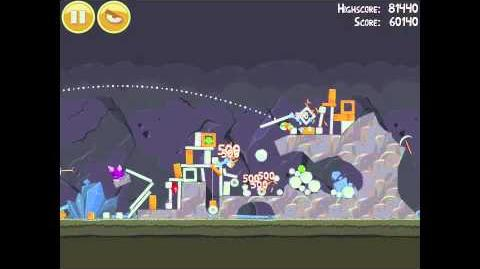 Angry Birds 17-4 Mine & Dine 3 Star Walkthrough